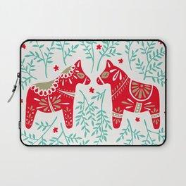 Swedish Dala Horses – Red & Mint Palette Laptop Sleeve