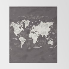 The World Map Throw Blanket