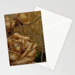 Wonderful  decorative floral design Stationery Cards