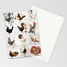 Defenseless Chickens Stationery Cards