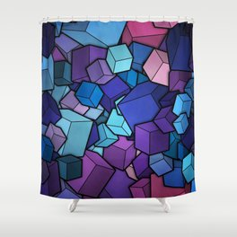 Abstract cubes Shower Curtain