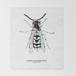 Vespula Germanica (german wasp) Throw Blanket