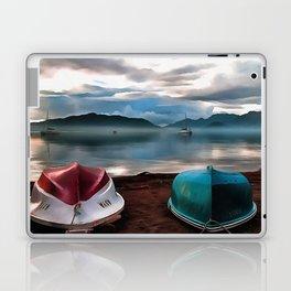 Hulls of Boats And Marmaris Winter Seascape Laptop & iPad Skin