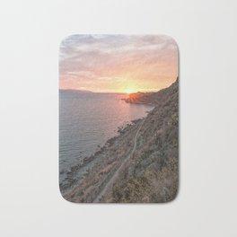 Vertical sunset Bath Mat