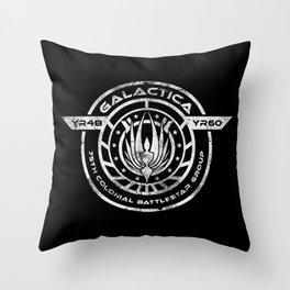 Galactica BS-75 Throw Pillow