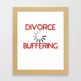 Divorce Buffering Framed Art Print
