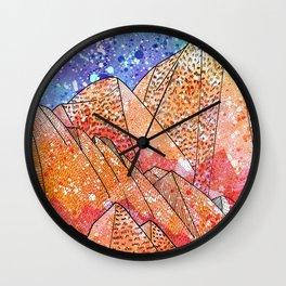 Paint Splatter Mountains Wall Clock