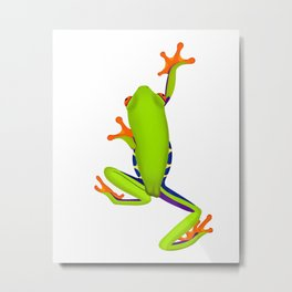 Tree Frog Climbing Metal Print