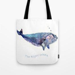Rigth Whale artwork Tote Bag
