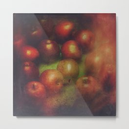 Once Upon a Time a Red Apple Metal Print