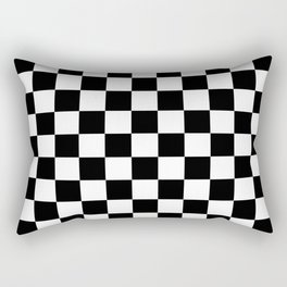 Checker (Black/White) Rectangular Pillow