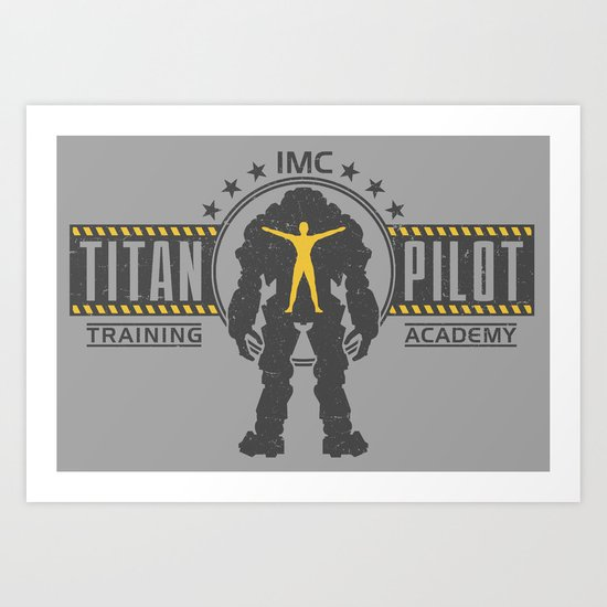 Titan Pilot Training Academy Art Print