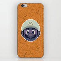 mario iPhone & iPod Skins featuring Mario by Kuki