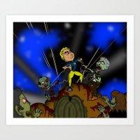 Zombie Man Art Print