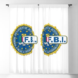 FBI Seal Mockup Blackout Curtain