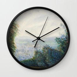 The Auvers Valley on the Oise River (after 1884) by Pierre-Auguste Renoir Wall Clock