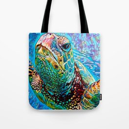 Gliding Through Colors Tote Bag