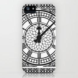 Big Ben, Clock Face, Intricate Vintage Timepiece Watch iPhone Case