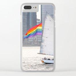 Pride Schooner Clear iPhone Case
