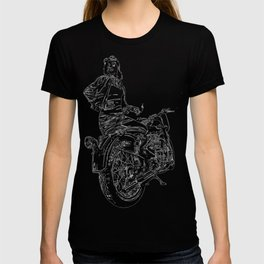 Woman Motorcycle Rider T-shirt