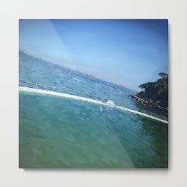 Summertime in Dinard, the pool. Metal Print