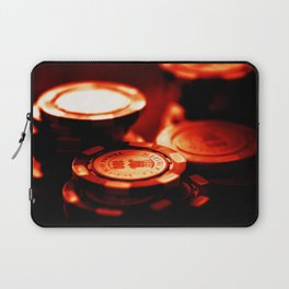 Casino Chips Stacks-Red Laptop Sleeve