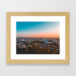 beautiful Berlin in the afternoon with tv-tower in the backgro Framed Art Print