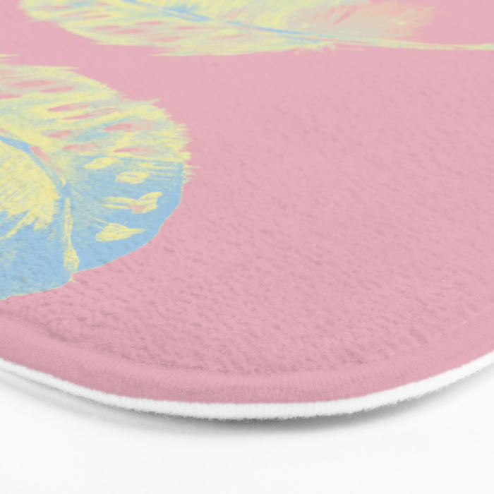 Abstract Feathers Bath Mat