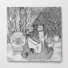 Fox Piano Metal Print