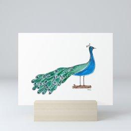 The Peacock Mini Art Print