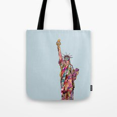 the french gift: statue of liberty Tote Bag