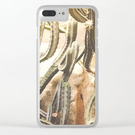 Cactus Jungle Clear iPhone Case