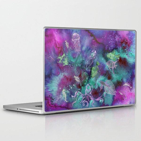 Aurora Seaworld Party Laptop & iPad Skin