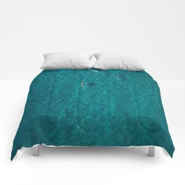 Trio Swimmers Turquoise Waters  Comforters