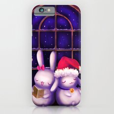 Chubby bunnies at christmas night Slim Case iPhone 6s