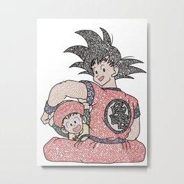 Goku and Gohan Metal Print