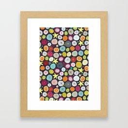 umbrellas cobalt Framed Art Print