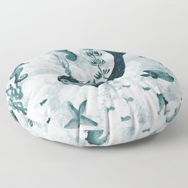 Under the Sea (Teal) Part 2 Floor Pillow