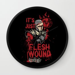 It's Just a Flesh Wound Wall Clock