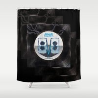 80s Shower Curtains featuring Future 80s by Nikola Kolobaric