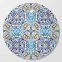 blue pattern Cutting Board