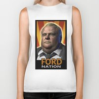 ford Biker Tanks featuring Ford Nation by RadiationLeak