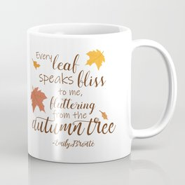 Fluttering from the Autumn Tree - A Fall Quote Coffee Mug