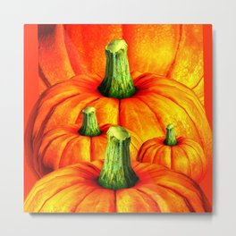 SURREAL REDDISH ORANGE FALL PUMPKINS Metal Print