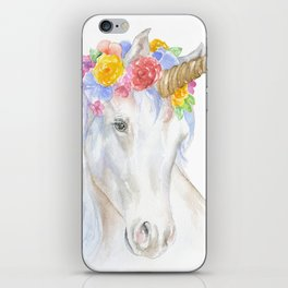 Unicorn Watercolor Painting iPhone Skin