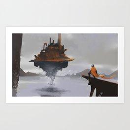 Island Castle Art Print