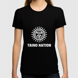 White Taino Nation Coqui Sun Boricua Taino Gift Puerto Rico Design T-shirt