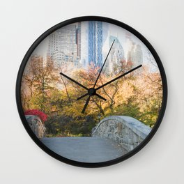 Central Park as the City Wakes Up Wall Clock