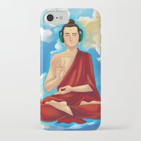 buddah iPhone & iPod Cases featuring Adeptu Buddah by Conversa entre Adeptus