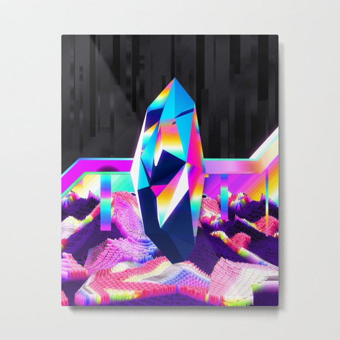 retro crystal Metal Print